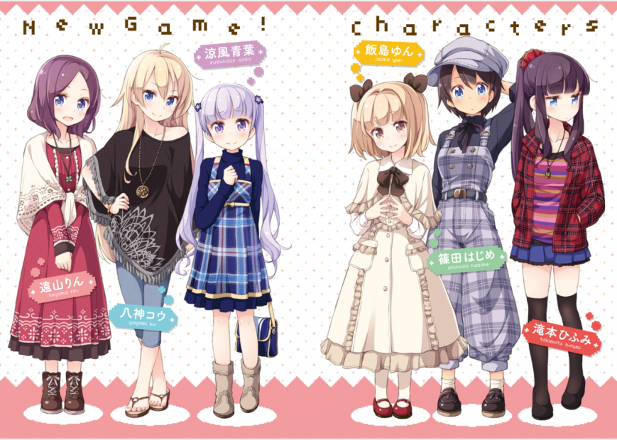new game anime characters