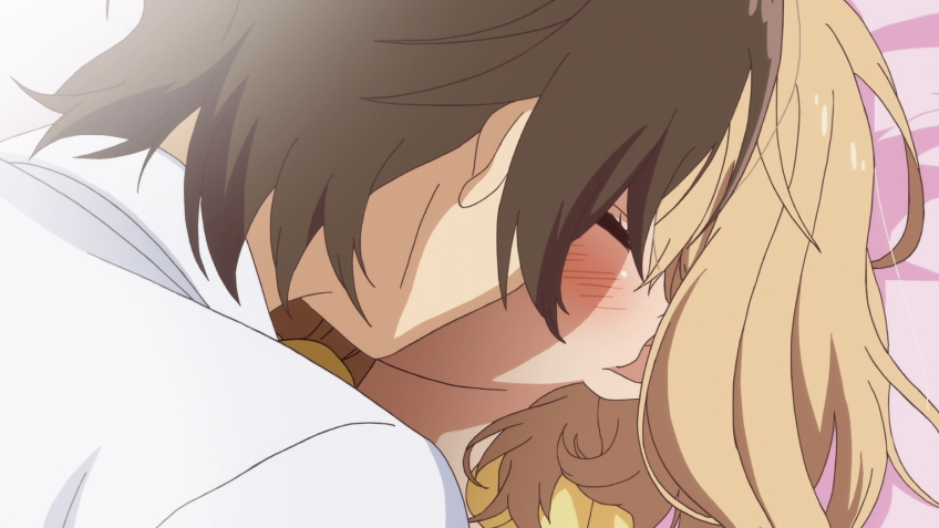 asagao to kase-san. kase yamada yuri kiss