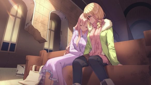 heart of the woods yuri visual novel maddie abigail