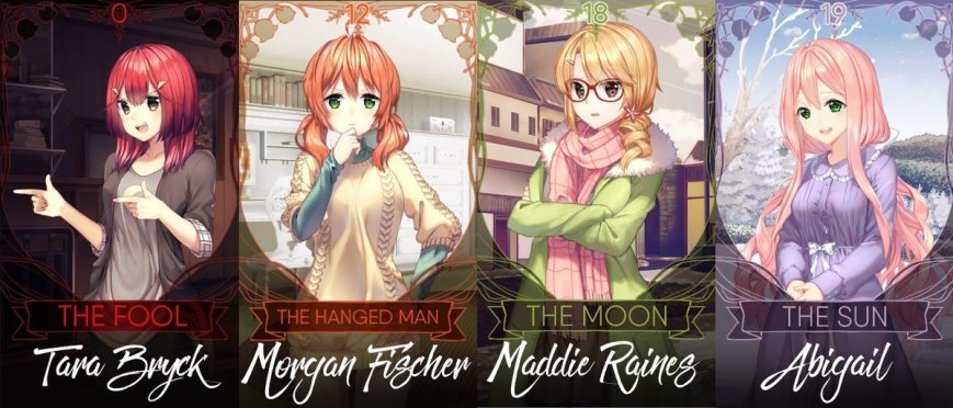 heart of the woods yuri visual novel characters