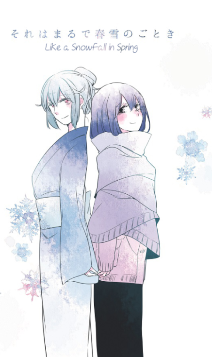 like a snowfall in spring yuri manga